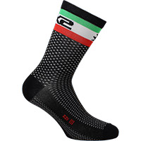 Six2 Short Logo Socks Italy Black