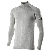Six2 Long Sleeve Turtleneck Carbon Merinos Underwear Gray Jersey