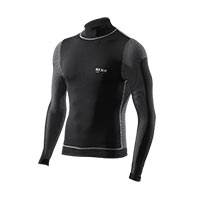 Six2 T-shirt Manica Lunga Lupetto Windshell Carbon 4stagioni Nero