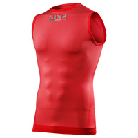 Six2 Tank Carbon Underwear Smx 4season Rosso