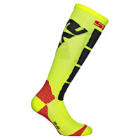 Six2 Long Yellow Motorbike Sock