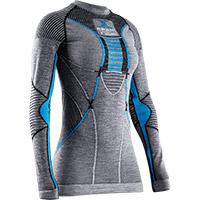 Camiseta Dama X-Bionic Apani 4.0 Merino gris teal